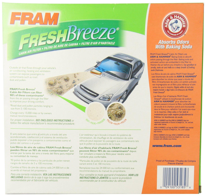 FRAM Fresh Breeze Cabin Air Filter ...